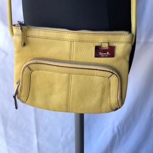 Tignanello Yellow Leather Crossbody Bag